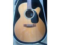 Takamine EG220C electro acoustic guitar & hard case.