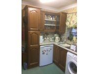 Solid Oak door kitchen units, cathedral arch style