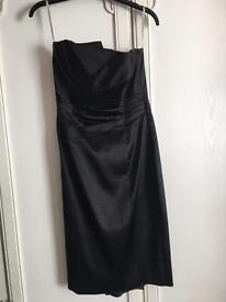 Black satin Karen Millen Dress