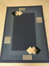 Blue Rug and Carpet Runner