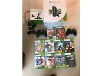 Xbox 360 250GB with games etc.