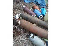 GAS BOTTLES OLD FIRES BBQ HEATERS REFIL CARAVAN EMPTY BOTTLES VARIOUS SIZES