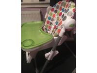 High chair (adjustable height)