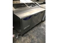 Pizza topping fridge, preparation catering fridge, takeaway and restaurant