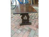 Refectory style oak coffee table