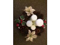 Christmas wreath & table decoration