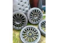 """X4 17"""" multispoke alloy wheels"""