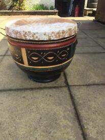 Hand carved Africa drum