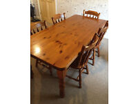 6ft Pine Dining Table