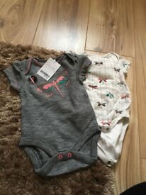 Girls next vests 0-3 months