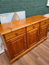 Pine sideboard for upcycling