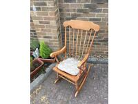 Light wood rocking chair