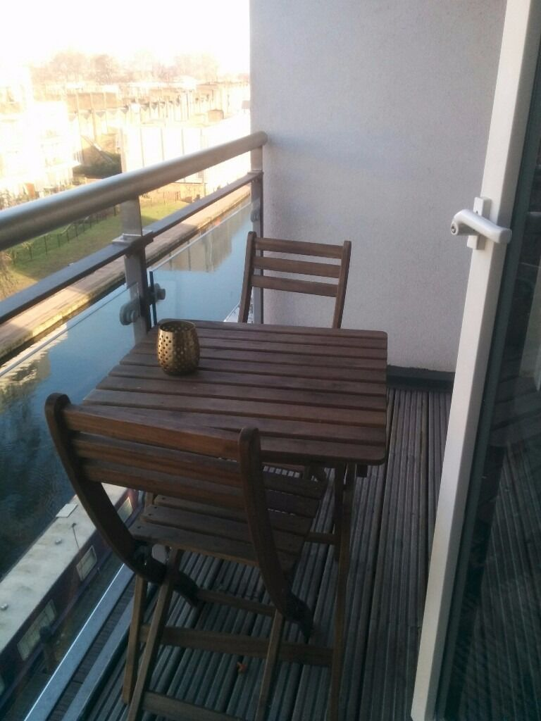 Ikea askholmen  Ikea ASKHOLMEN Table+2 chairs, outdoor, grey, brown stained | in ...
