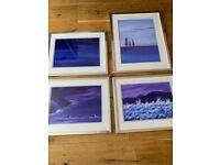 Set of 4 seascape/landscape oil paintings