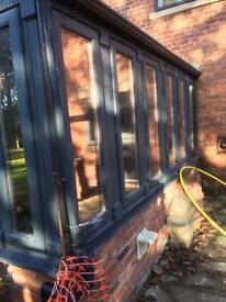 Stunning Hardwood Orangery, Double Glazed, ROC French Doors, 2 x openers RRP £38K