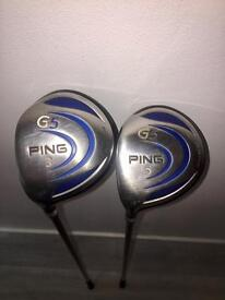 PING G5 3 & 5 WOOD LEFT HANDED