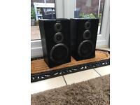 Retro Sony Speakers - Black ash