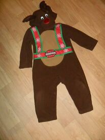 Reindeer onesie/outfit age 1 to 2 years
