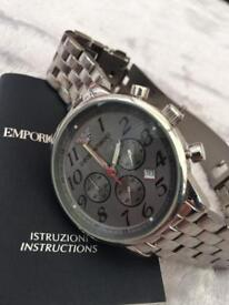 MENS ARMANI STAINLESS STEEL WATCH MINT CONDITION..