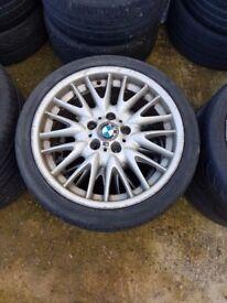 """Bmw mv1 18"""" alloy wheel single wheel FRONT or REAR 18x8j / 18x8.5j Can Post (1 wheel)"""