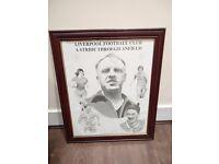 Framed Liverpool FC legends picture