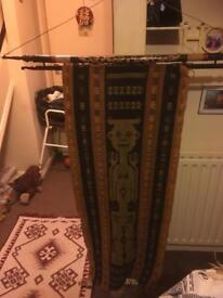 Japanese wall hanging rug very collectible