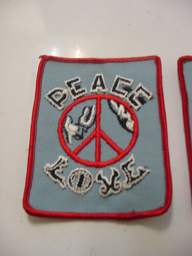 LOT OF 10 VINTAGE PEACE SIGN LOVE PATCH EMBROIDERED 70