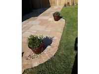 Bradstone Natural Sandstone Patio Slabs, Sunset Buff, New and Matching Edging Stones