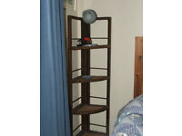 Corner storage unit, folds flat, lovely very useful oldie.