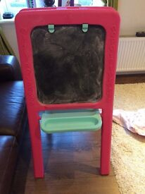 Elc pink and blue easel