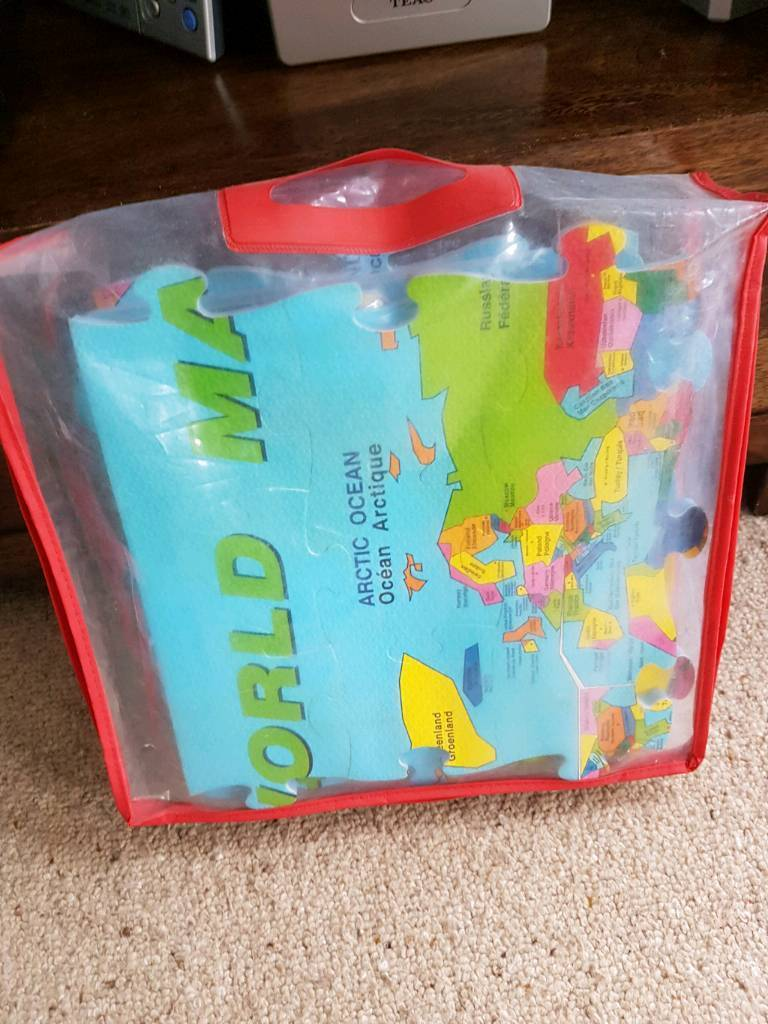 Large foam world map puzzle in hartcliffe bristol gumtree large foam world map puzzle sciox Image collections