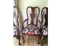 Dining chairs x 8 wooden