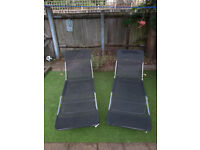 TWO SUNBEDS used few times