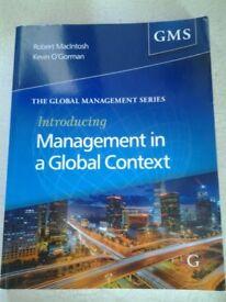 Introducing Management in a Global Context Robert MacIntosh Kevin O'Gorman