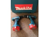 Makita: 2no Battery Drills - c/w Case, charger and 3no Batteries