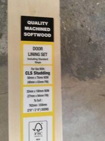 18xpacks of softwood internal door linings