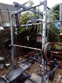Smith machine MARCY with weight bench