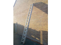 7.3m extended double ladders