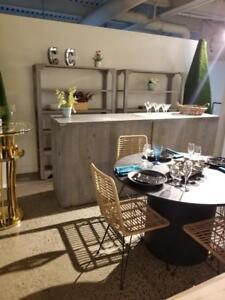 table chaise fauteuil bar rustique baroque louis vx liquidation salle de montre