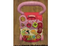 Vtech walker, Vtech activity table, Chicco baby bouncer and baby bath