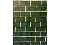 Dark Green Metro Tiles - SOLD