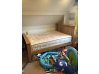 Lovely Solid oak bed frame with mattress