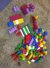 Building blocks and toy kitchen