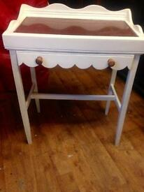 Handy console/hall table marble top*upcycled & unique
