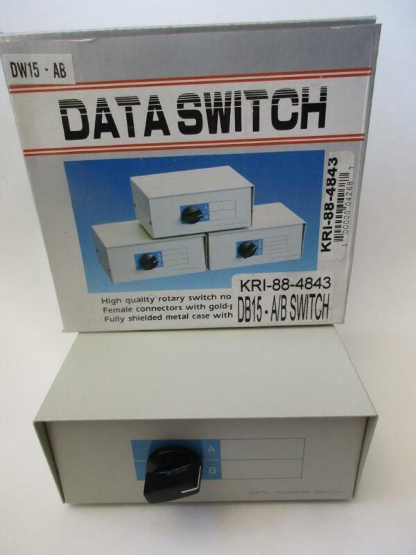 (1x) DB15 DATA ROTARY SWITCH BOX AB A-B 15-Pin Female Computer Printer Monitor