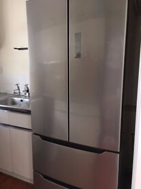 Hisense Frost Free American Fridge Freezer Stainless Steel