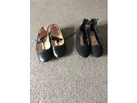 2 pairs of girls party shoes