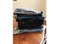 Bundle of 10 pairs of longer length women's skinny jeans sizes 8 & 10