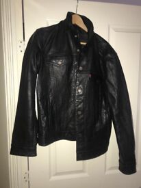 Men's buffalo leather biker jacket Levi