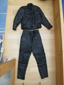 Lady's two piece motorcycle leathers size 16